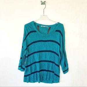 Soft Surroundings stripes sweater sz large